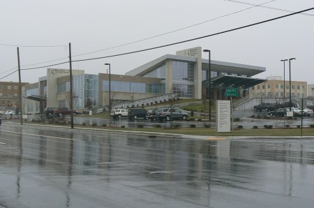 Cancer Center and Outpatient Entrance- from the northeast