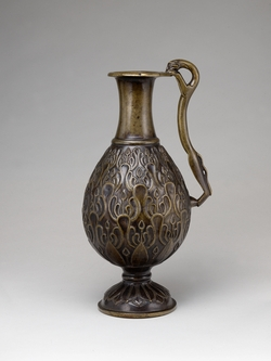 Islamic ewer from Iran, ca. 700 AD.  Metropolitan Museum of Art.