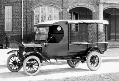 1924 Open Cab Express Body Model TT- Ford's first pickup.  Before that model year Ford only provided the truck chassis, and local wagonmakers purpose-built the bodies.