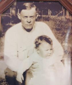 "R.V. (""Bob"") Toomes with his grandson Richard Petty"