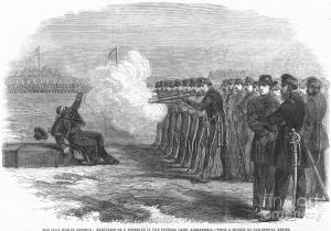 Executing a Deserter, 1862.  Harper's Weekly.