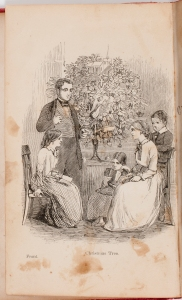A non-evergreen Christmas tree from the 1850s.