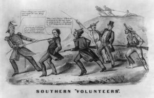 "Southern ""Volunteers"".  Currier and Ives illustration, Library of Congress."