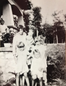 Toomes Children on the porch, ca. 1930