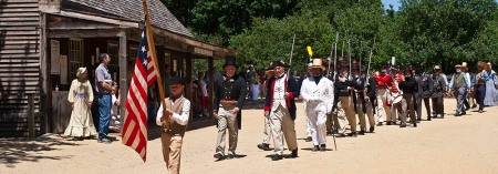Recreated 1830s Fourth of July Celebration at Old Sturbridge Village, Mass.