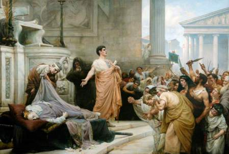 Mark Antony's Funeral Oration for Caesar (c) Hartlepool Museums and Heritage Service; Supplied by The Public Catalogue Foundation