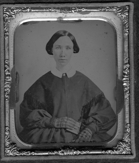 unknown Franklinville girl, circa 1850.