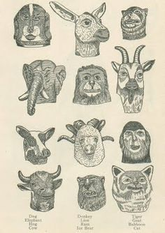 Odd Fellows Masks 1900